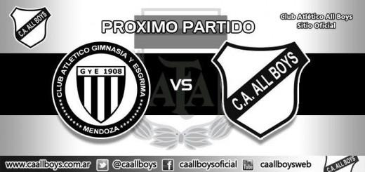 Gimnasia y Esgrima de Mendoza vs All Boys