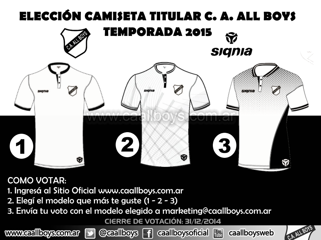 Elección Camiseta All Boys Temporada 2015