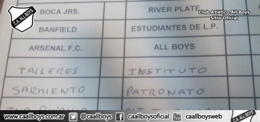 Fixture All Boys Juveniles