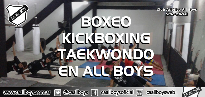 Practica boxeo, tekwondo y kickboxing en all boys