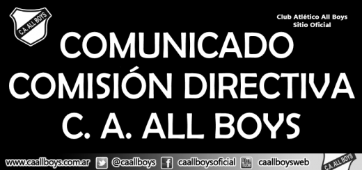 Comunicado comisión Directiva Club Atlético All Boys
