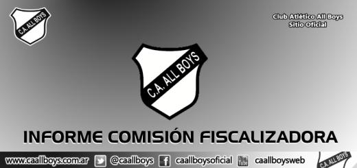 Informe Comisión Fiscalizadora