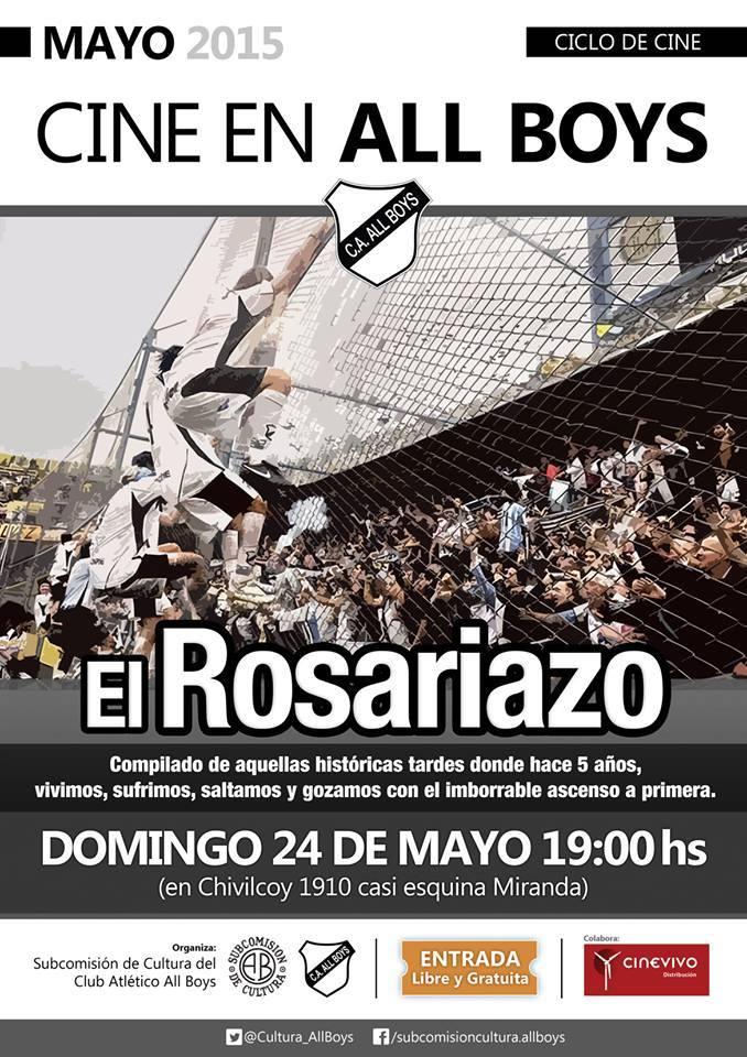 """Ciclo de Cine, 5 años del """"Rosariazo"""""""