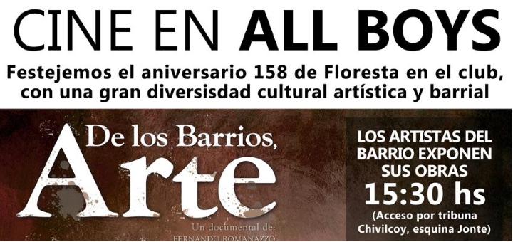 """Ciclo de Cine - 158 Aniversario de Floresta: """"De los Barrios Arte"""""""