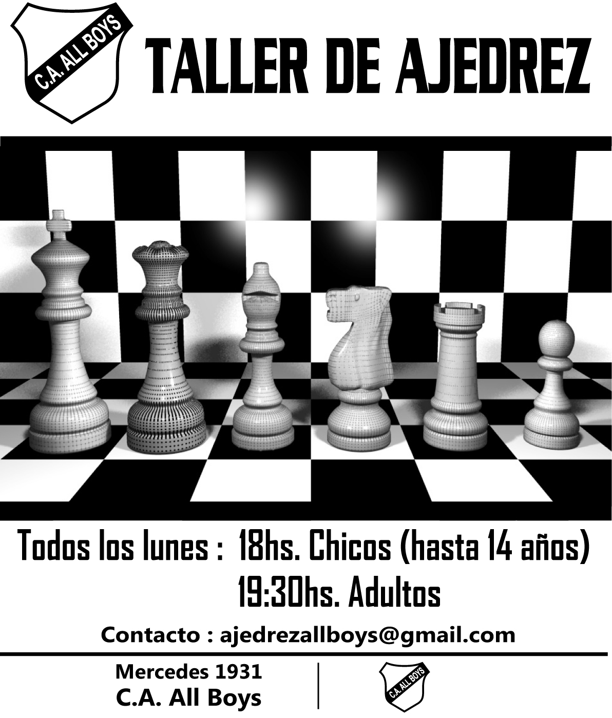 Taller de Ajedrez en All Boys