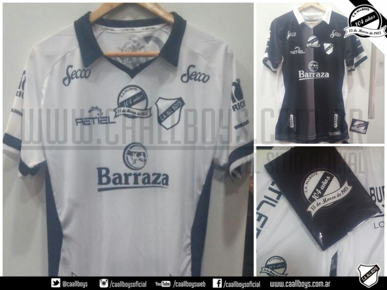 Camiseta All Boys 104 Años